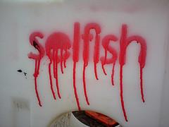 confess selfishness